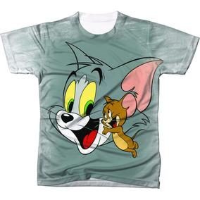 Camiseta - Camisa Desenho Animado Tom E Jerry Estampada 1