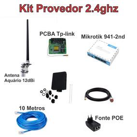 Kit Provedor De Internet Via Radio 2.4ghz 12dbi 60 Clientes