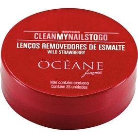 Oceane Lenço Removedor De Esmalte Morango - 25uni
