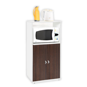 Mueble Para Microondas Melamina 3046 Blanco/tabaco