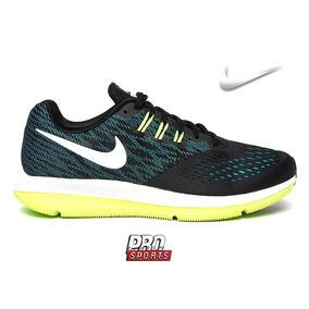 Nike Tenis Zoom Winflo 4 Pto Azul Limao - Original - Eh 7ebad5bfbcae0