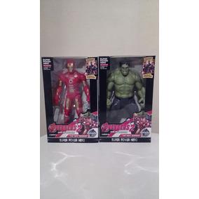 Figuras De Accion Iron Man Y Hulk Con Luz Laser Intermitente