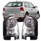 Kit X2 Faros Traseros Vw Gol Power Tuning Deportivos Cristal