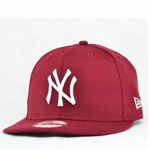 Boné Aba Reta New York Ny Yankees Vinho Snapback Original