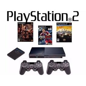 Promoção! Playstation 2 Novo+ 2 Controles +cabos(completo)!
