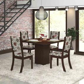 Sala De Jantar 4 Cadeiras Viero Dunia Choco/passion Ee