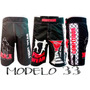 Kit Com 05 Bermudas Mma Ufc Jiujitsu Submission Muay Thai