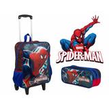 Kit Mochila Homem Aranha Grande Spider-man + Estojo 17m