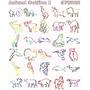 Diseños Matrices Para Bordadoras. Contorno De Animales