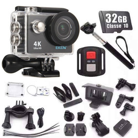 Camera Eken H9r Original 4k + 32gb + Bastao Wifi Fullhd Bike