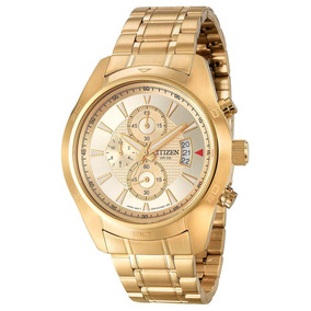 Reloj Citizen Cronógrafo An3542-53p Dorado Caballro