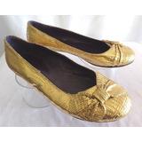 Sibyl Vane Chatitas Zapatos 38 Color Dorado O.mar2011