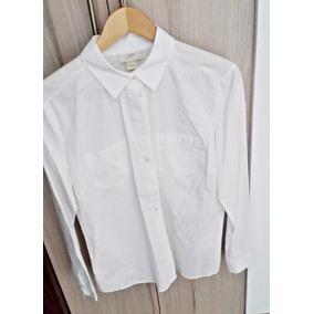 Elegante Camisa De Vestir Blanca Marca Loft M Algodón