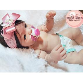 Bebê Reborn Julie Silicone Macio Pronta Entrega