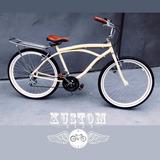 Bicicleta Urbana Retrô - Beach Bike Caiçara Harley Bege