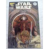 Star Wars Episode 1 Phantom M 1/2 Wizard Comics Autografiado