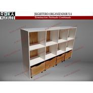 Juguetero Baul Organizador Biblioteca Cubosx4 Patinado
