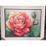 Quadro De Rosas Pintura Em Tela Decorativo Pintura A Óleo
