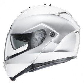 Casco Hjc Is-max Pearl White Rebatible Doble Visor Motodelta