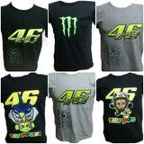Kit 10 Camisetas Valentino Rossi 46 The Doctor Motogp