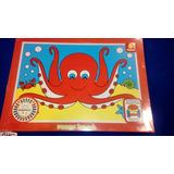 Puzzle Infantil Simple Grande Madera Pintada 4 6 O 8 Piezas