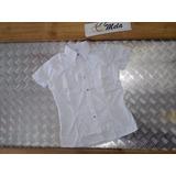 Camisa Tipo Columbia Para Uniforme De Dama Blanca Talla 16