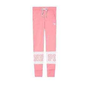 Pantalón Jogging Rosa Blanco Pink Victoria