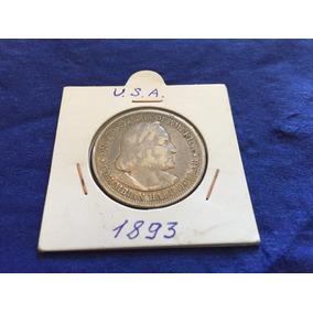 Medio Dólar De Plata Cristóbal Colón Año 1893