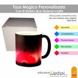 Taza Magica Personalizada Con El Diseño Que Quieras+cajita
