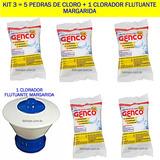 Kit 5 Pedras De Cloro 200g Genco E Um Flutuador Margarida Rj