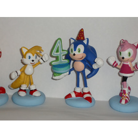 Sonic,topes Para Torta Personajes De La Tv En Masa Flexible