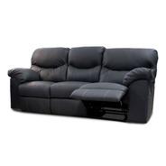Sofa Con Reclinables De Piel Genuina Houston