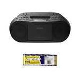 Sony Stereo Cd/cassette Boombox Home Audio Radio (black) Wit
