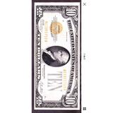 Liquidación 10 Dolares Certificado De Oro