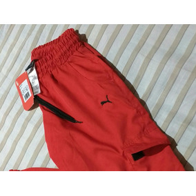 Calça Vermelha Tactel Puma Original