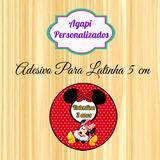 50 Rótulos Personalizados Para Latinhas Minie Vermelha