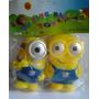 Muñecos Minions De Goma Con Chifle X 2