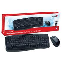 Kit Teclado Mouse Genius Kb 8000x Wireless Inalambrico