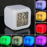 Reloj De Termómetro De Alarma Digital De 7 Led Color Nuevo