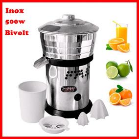 Espremedor Suco Industrial Extrator Laranja Inox 500w