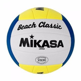 Bola De Volei De Praia Mikasa Couro Sintetico Oficial Vx20