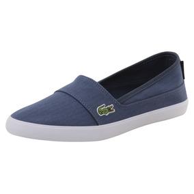 Tenis Zapato Lacoste Marice Azul Mujer Lona Originales