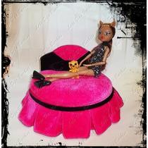 Cama De Luxo Para Boneca * Monster High * Estilo Túmulo ! *