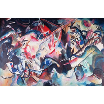 Cuadro De Kandinsky Impreso En Tela Canvas C/ Bastidor 70x45