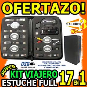 Kit Usb Viajero 17en1 Hub Usb 4 Puertos Mouse Rj45 Mini Wow