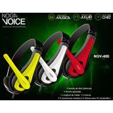 Auriculares Vincha Pc Micrófono Noganet Chat Música Juegos