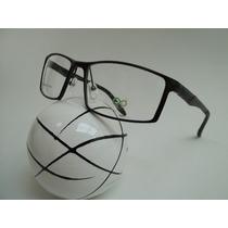 Armação Esportiva Oculos P Grau Masculina Aluminio Cor Preta