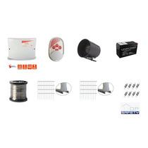 Kit Cerca Eletrica Com Bateria Sirene Hastes Gcp 10000 Cr