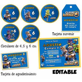 Kit Imprimible Clash Royale Candy Bar Editable Cotillón