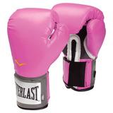 Guantes Boxeo Kick Boxing Everlast Pro Style 12 14 Oz Rosado
